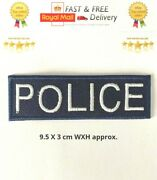 Police Badge Embroidered Sew/iron On Patch Badge Shirts/jackets/jeans Etc N-52