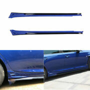 For 2019-2020 Cadillac Ct5 Black Blue Car Exterior Door Panel Trim Side Skirts
