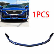 Front Bumper Lip Spoiler Bodykit Refit Paint Blue Fit For Cadillac Ct5 2019-20