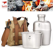 Keith Titanium Ti3060 Canteen Mess Kit Water Bottle Ultralight Carrying Pouch