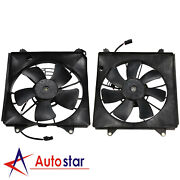 Left And Right Cooling Radiator Fan Assembly For 2008-2012 Honda Accord