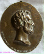 Med1537 - Plate Bronze Abraham Lincoln Republican Club New York 1910