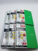 Five Star Spiral Notebook 5 Subject College Ruled Paper 200 Sheets 6 Pack