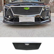 For Cadillac Ct6 2019-2020 Abs Black Sport-v Front Bumper Mesh Grill Grille 1pcs