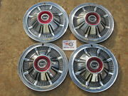 1966-77 Ford Pickup Truck Bronco 15 Wheel Covers Hubcaps Set Of 4 Oem
