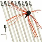 Xedragony Chimney Cleaning Brush Fireplace Flue Sweep Whip Cleaner Tools 30 Feet