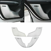Inner Door Anti-kick Panel Cover Trim 4x Steel Silver For Cadillac Xt4 2018-2020