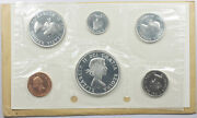 1964 Canada 6 Coin Proof Like Mint Set 1864 - 1964 Charlottetown Qc Silver 80