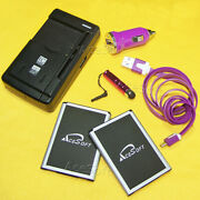 6in1 Acesoft 2x 3520mah Battery Car Charger Data Cable Pen F Lg Optimus L90 D415