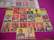 1961 Topps Nfl Football Complete Card Set 198 Cards Total Nice