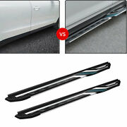 Side Step Running Board Nerf Bar Protect Aluminum Black For Cadillac Xt4 2018-20