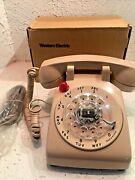 Western Electric 500 Ym Rotary Desk Telephone -jerry Lewis Telethon Model