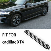 Side Step Running Board Nerf Bar Protect Black Aluminum For Cadillac Xt4 2018-20