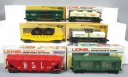 Lionel O Gauge Freight Cars 6-9308 6-9213 6-9285 6-9148 6-9437 6-9386 [6]/box