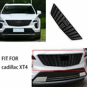 Chrome Front Center Mesh Grille Grill Cover Trim Fit For Cadillac Xt4 2018-2020