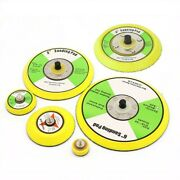 1-6 Inch Polishing Sanding Disc Backing Pads Hook And Loop For Pneumatic Sander