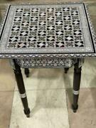 Egyptian Handmade Antique Chess Table Inlaid Mother Of Pearl 20