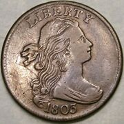 1803 Draped Bust Large Cent Appealn Beautiful Crisp S-258 Small Date Lg Fraction