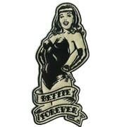 Bettie Page Forever Patch Iron On Pinup Girl Queen 50s Sexy Retro Vintage Style