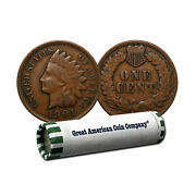 Roll Of 50 Circulated Indian Head Cents