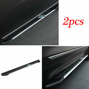 For Cadillac Xt5 2016-20 Black Aluminum Running Board Side Pedals Foot Pedal 2x