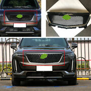 For 2019-2020 Cadillac Xt6 Black Front Honeycomb Grille Grill Cover Trim 1pcs