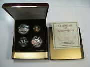 1996 Us Mint Atlanta Olympic Games 4 Proof Coin Set W/ Cauldron Gold 5 Coin. 2