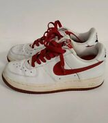 Rare Vintage Nike Red And White Valentines Day Air Force 1 Women's Size 7.5
