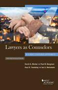 Lawyers As Counselors, A Client-centered Approach By David A. Binder English P