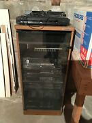 Pre-owned Kenwood Stereo 6 Component Rack System With Stand Vintage 1980s Stereo