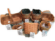 Set Of 7 Signed By Dave Longaberger Baskets Mint And Family Signatures Collectable