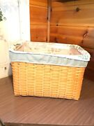 Longaberger 2000 Personal File Basket Pair Combo Basket, Stand, Prot And 3 Liners