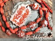 Antique Vintage Chinese Porcelain Dragon Bead Necklace Estate Jewelry Buy-out