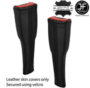 Black Stitch Leather 2x Seat Belt Stalk Tall Cover For Lotus Elise S3 2011-2020
