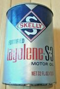 Vintage Original Skelly Tagolene-s-3 Motor Oil 1 Qt. Can - Very Good Condition