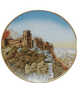Mettlach 2362 17andrdquo Charger Plaque Heidelberg City Wall Etched