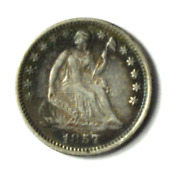 1857 H10c Seated Liberty Silver Half Dime Philadelphia Clashed Letters