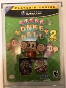 Super Monkey Ball 2-pack Rare And Sealed Please See Pictures For Condition