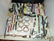 Amazing Lot Of Women's Watches For Parts Or Repair Or Replace Batterys 52 Pc.