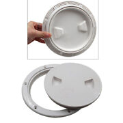 White Non Slip 6and039and039 Deck Inspection Hatch For Marine Corrosion Resistant