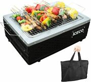 Iceco Portable Tabletop Charcoal Grill Stainless Steel Bbq Grill Camping Outdoor