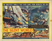 Silent World Original Us Lobby Title Card Jacques-yves Cousteau 1956