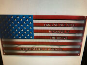 Metal Wall Decor American Flag Steel Wall Art Because Of The Brave Large