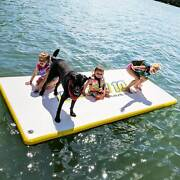 Rave Sports Whoosh 10and039 Water Mat Blow Up Yard Slide Platform With Pump 2 Pack