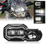 Dot Led Headlight Black Motorcycle Front Headlamp For F800gs F800r F700gs F650gs