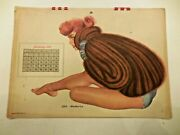 1949 Full Year Esquire Pinup Girl Calendar Al Moore Sexy Girls In Swim Suits