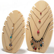 2pcs Small And Large Vintage Wood Necklace Display Jewelry Stand Organizer