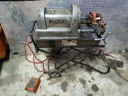 Ridgid 1822 Pipe Threader W/rolling Cart 1/2-2 1224 300 535 Ed4u 9024