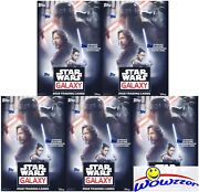 5 2018 Topps Star Wars Galaxy Exclusive Sealed Blaster Box-5 Patch Relic