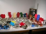 Big Lot Of 85 Vintage To 2000's Cookie Cutters Plastic, Copper And Tin 5 Nib